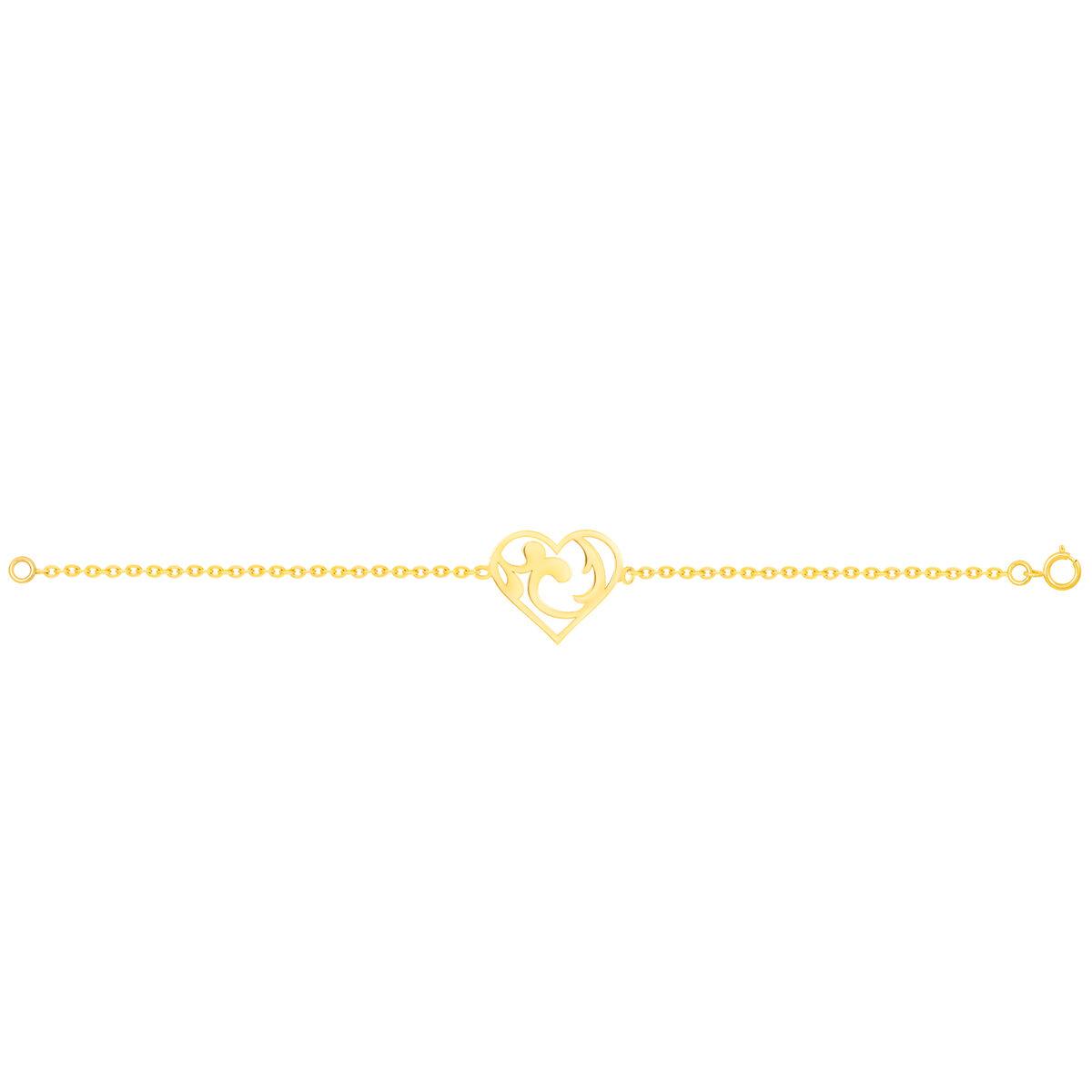 دستبند طلا قلب اسلیمی