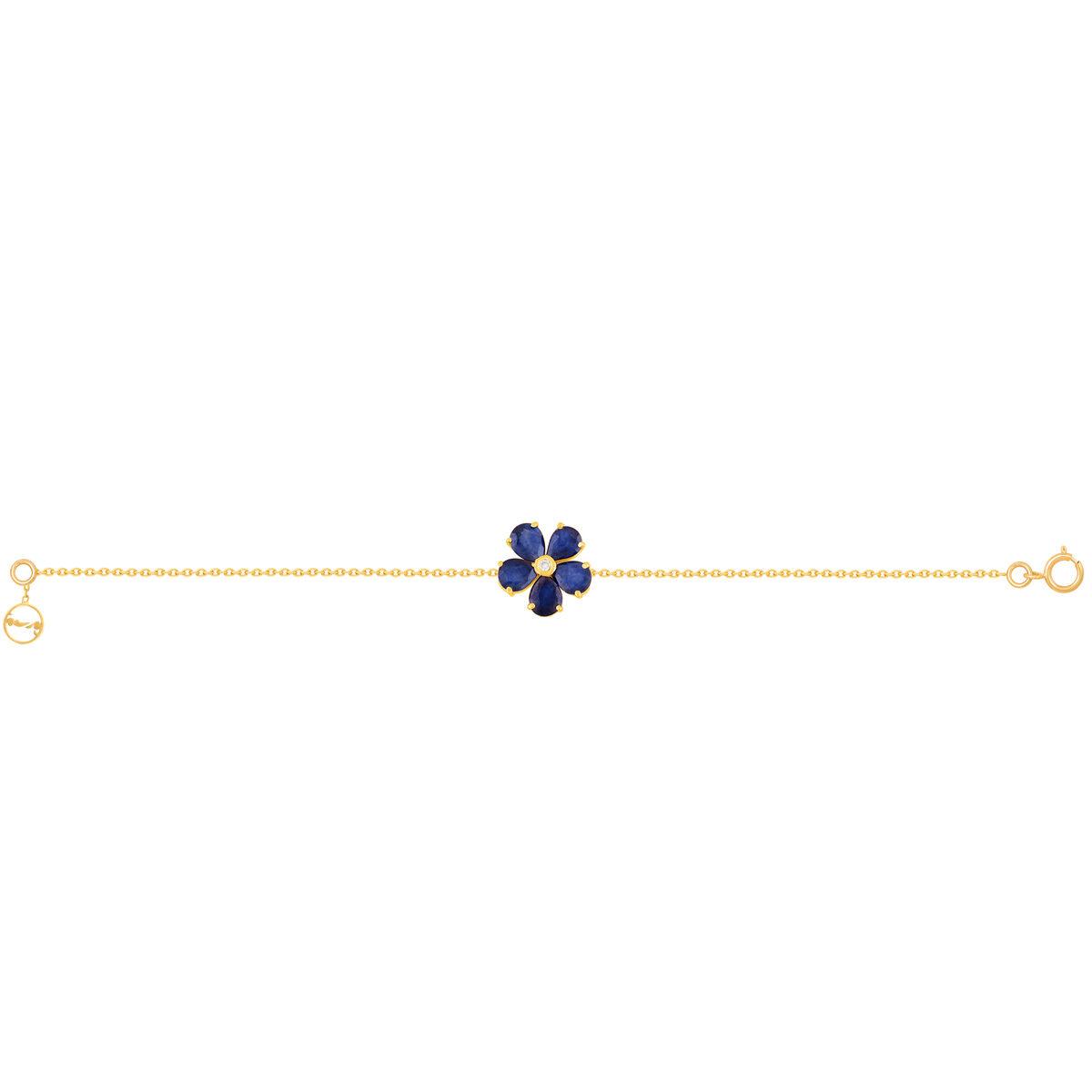 دستبند طلا MULTICOLOR یاقوت کبود