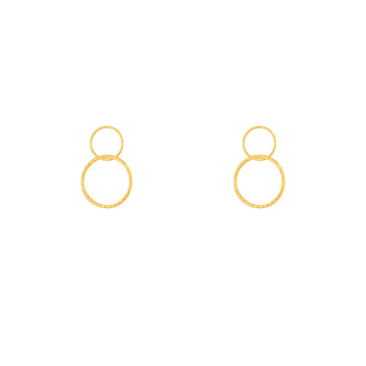 گوشواره طلا دو حلقه