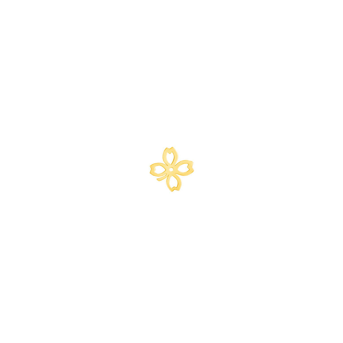 گوشواره طلا تک لنگه ای شبدر
