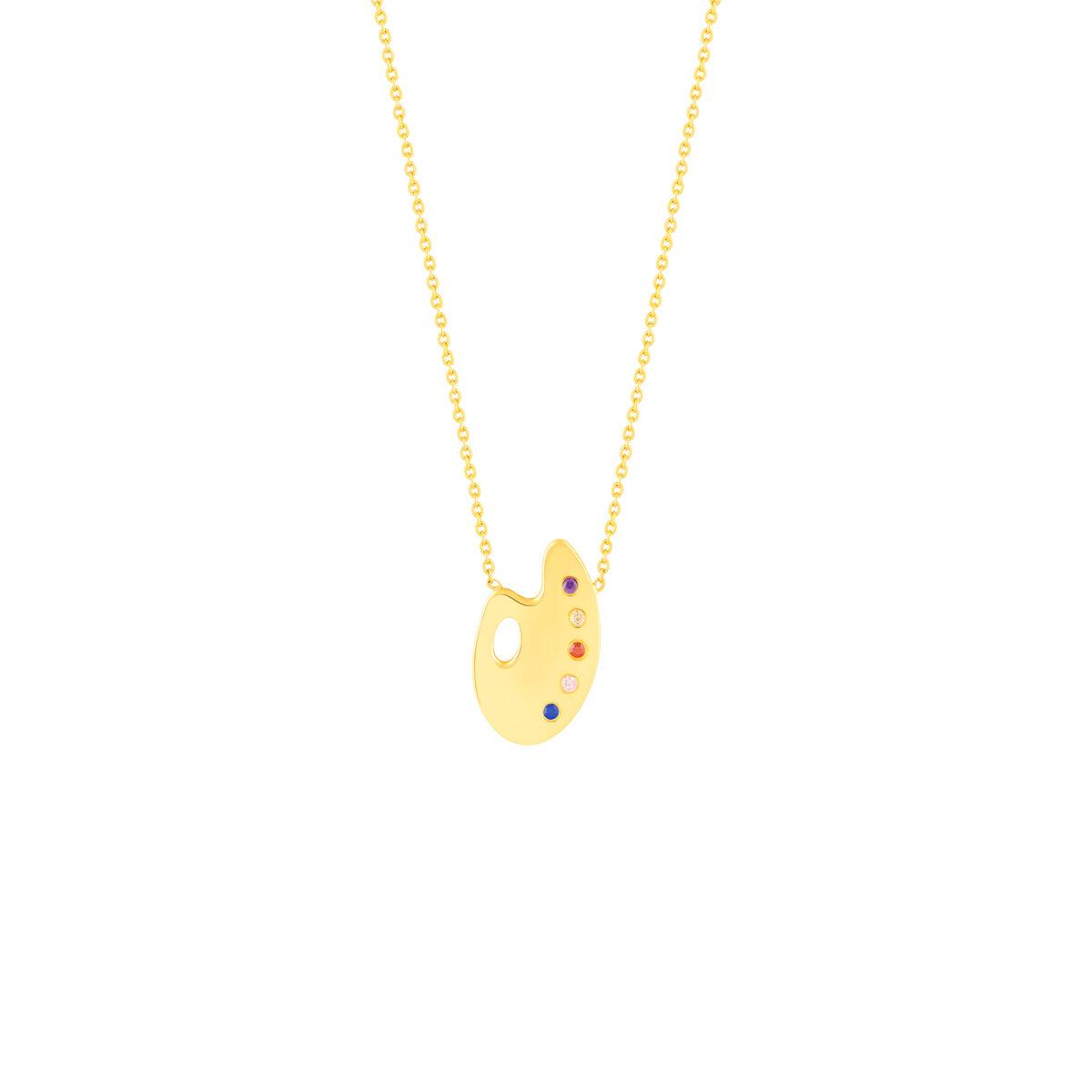 گردنبند طلا پالت رنگ