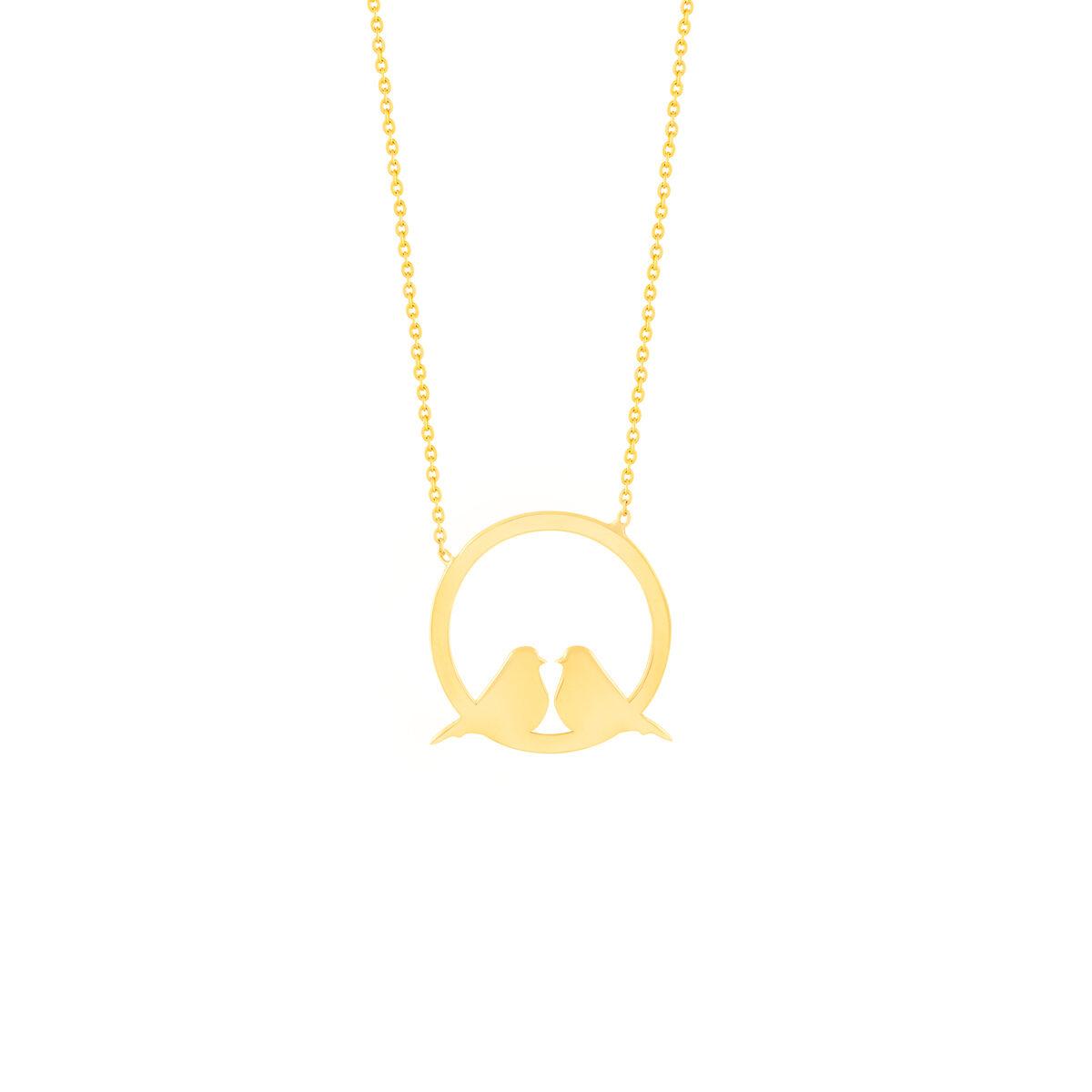 گردنبند طلا دو پرنده