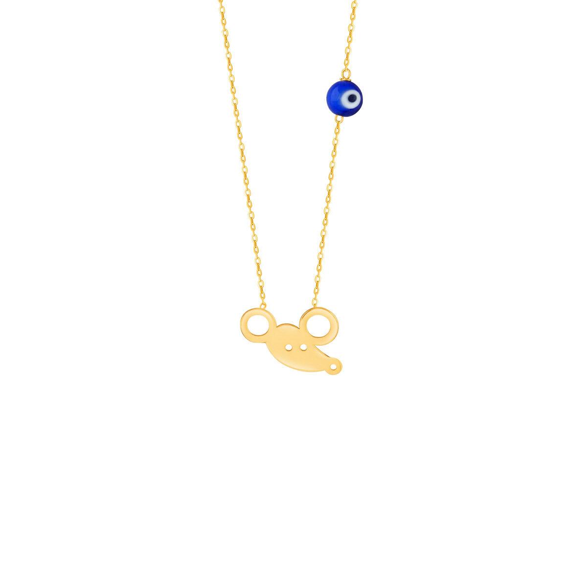 گردنبند طلا بچه گانه موش