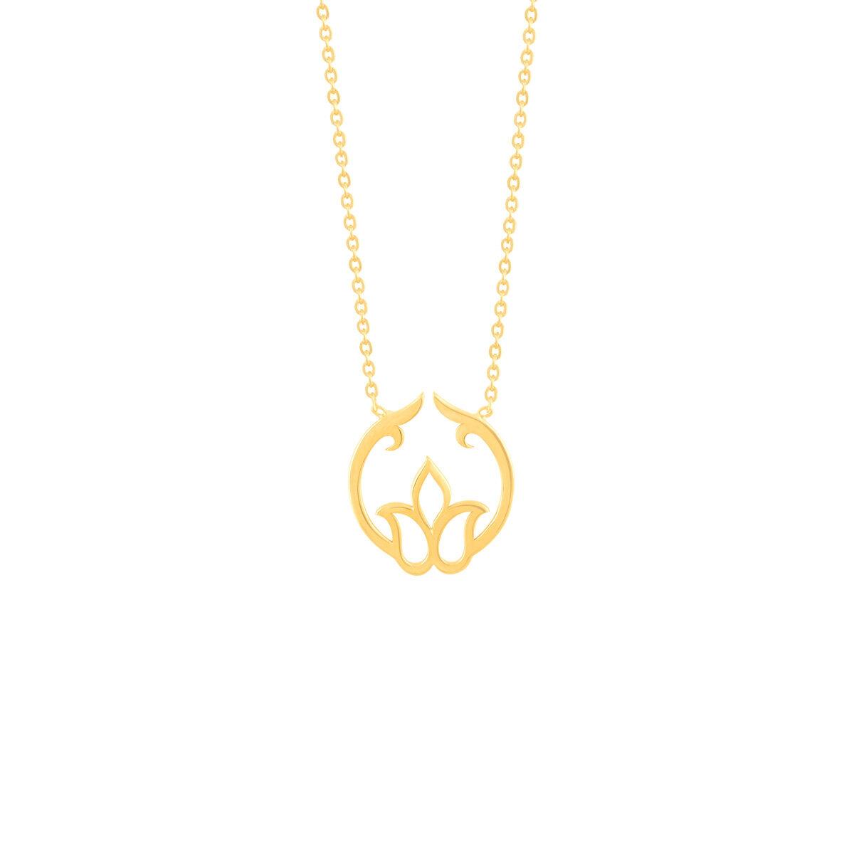 گردنبند طلا گل لاله
