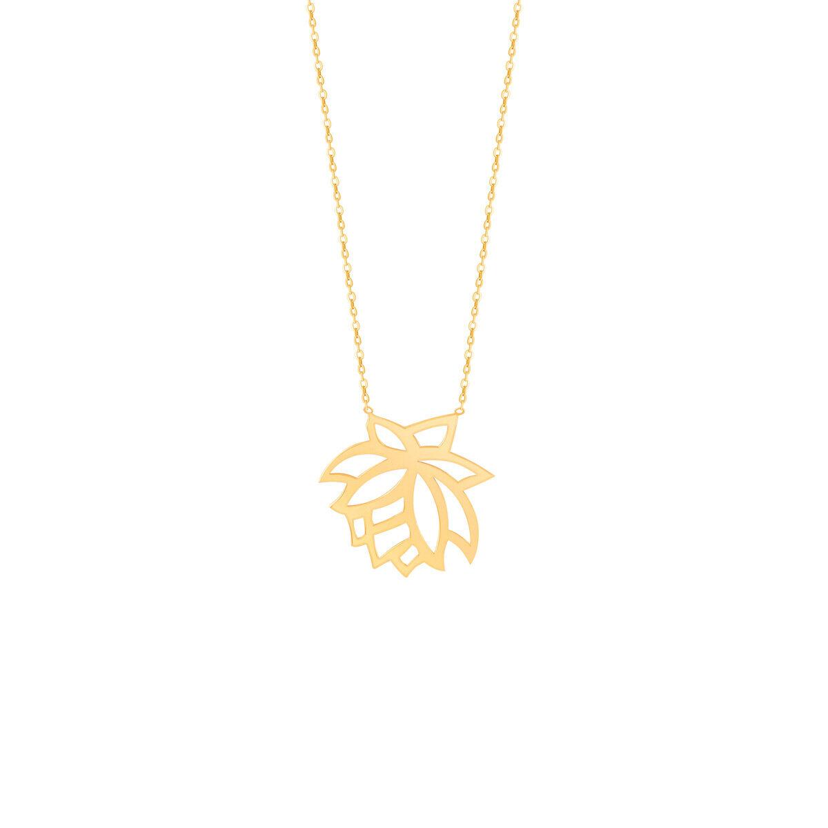 گردنبند طلا گل رز