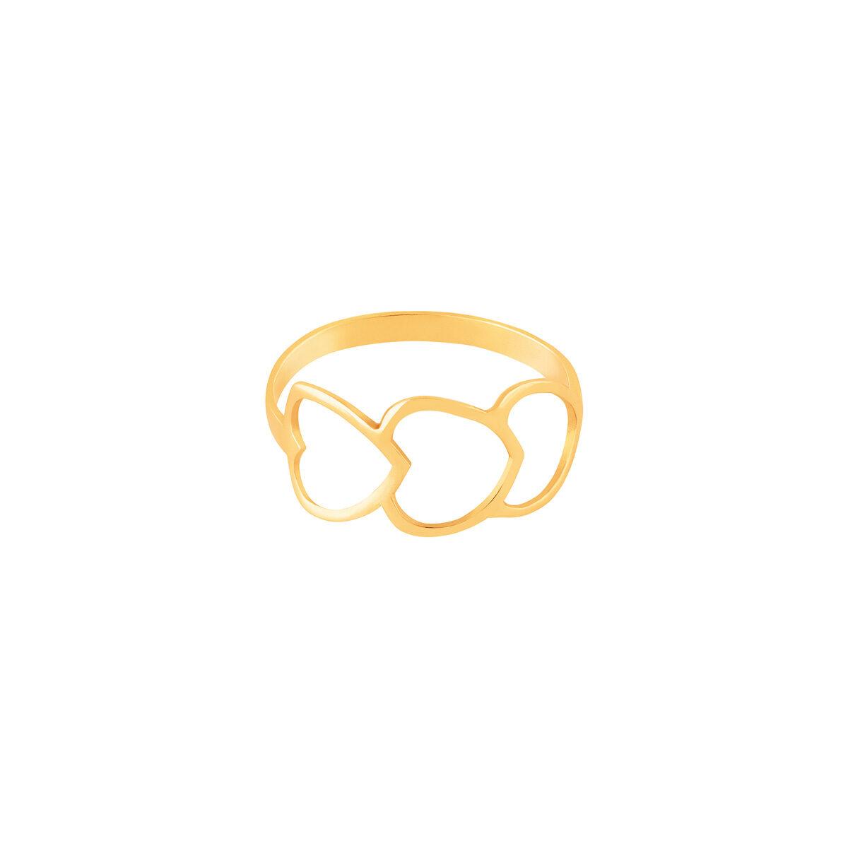 انگشتر طلا سه قلب
