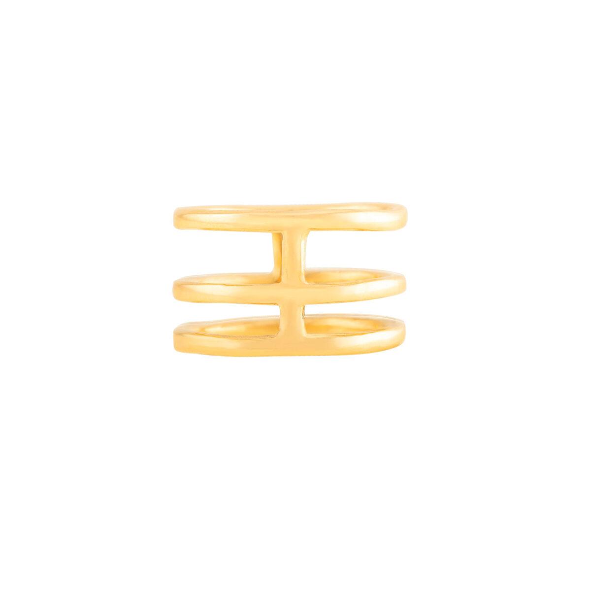 انگشتر طانگشتر طلا سه رینگ متصللا سه رینگ