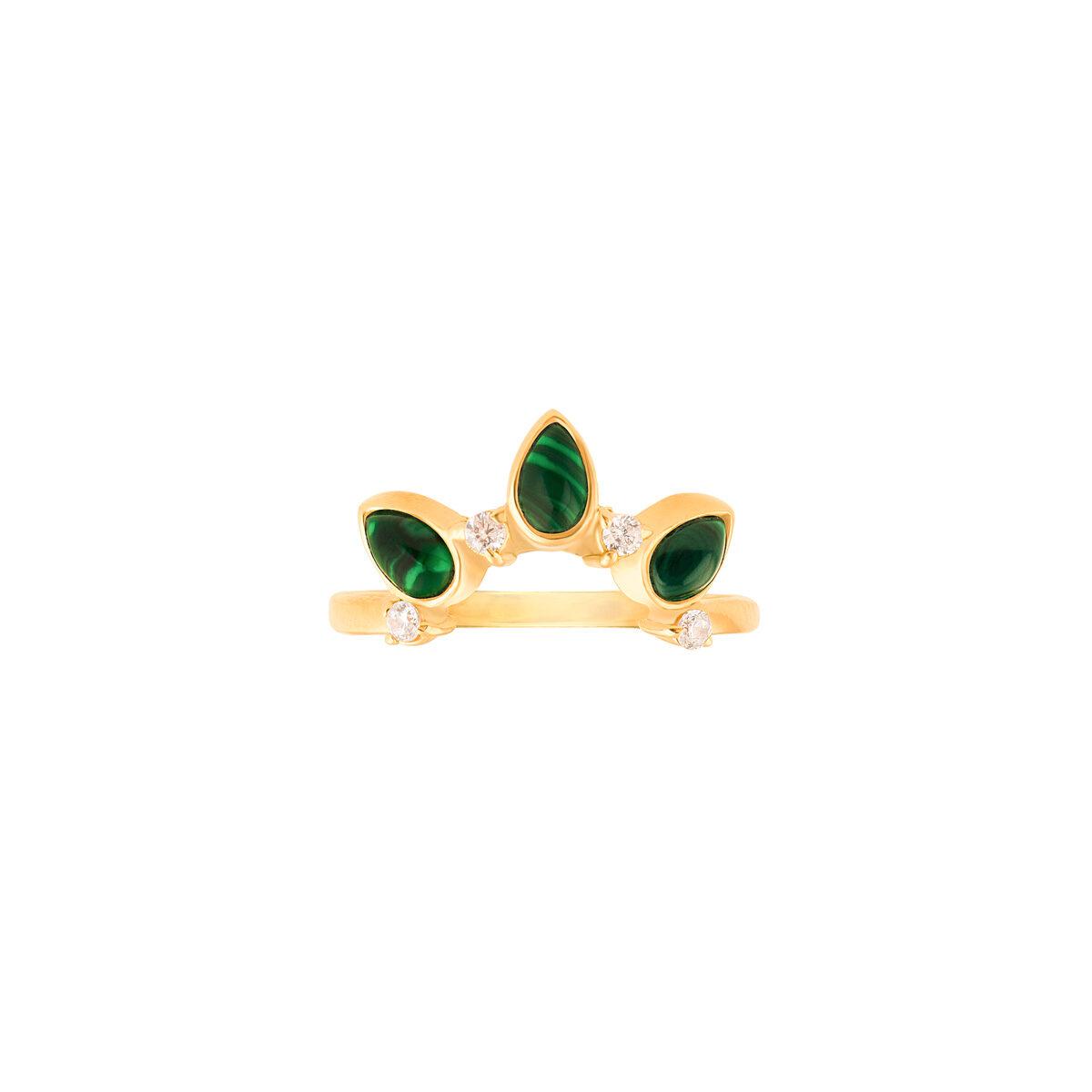 انگشتر طلا تک رینگ مینِلاوا سبز