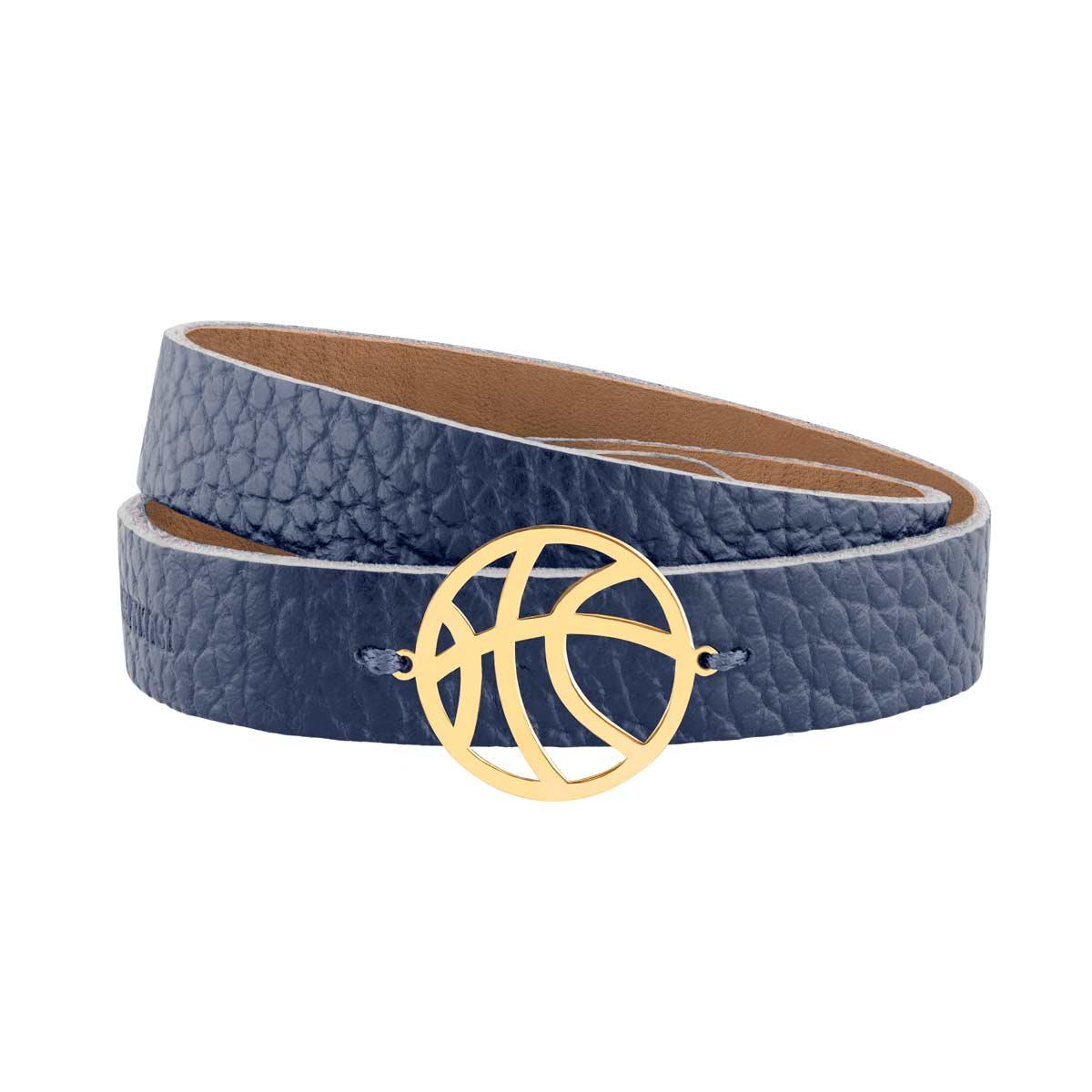 دستبند طلا چرمی توپ بسکتبال