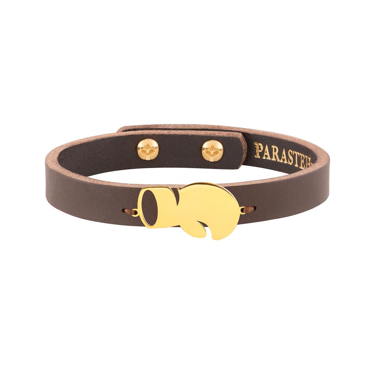 دستبند طلا چرمی بوکس