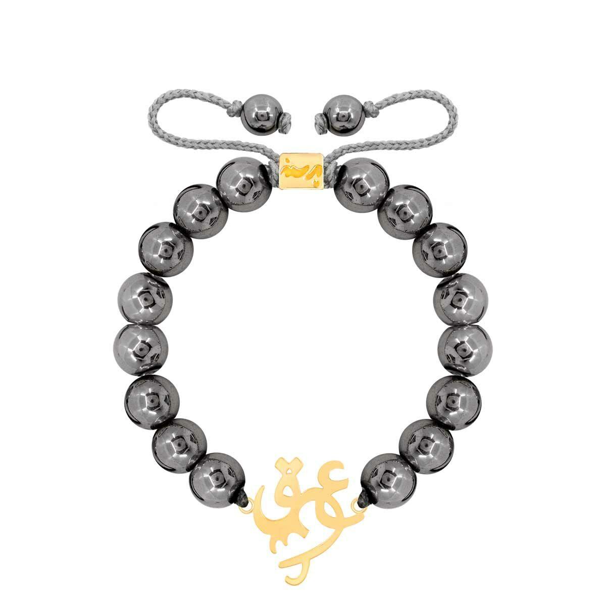 دستبند طلا سنگی عشق و حدید