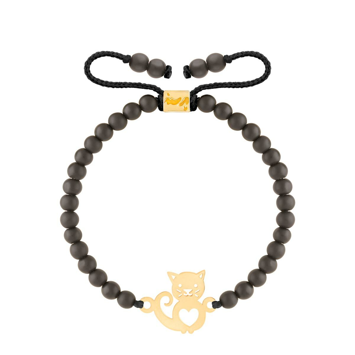 دستبند طلا سنگی گربه