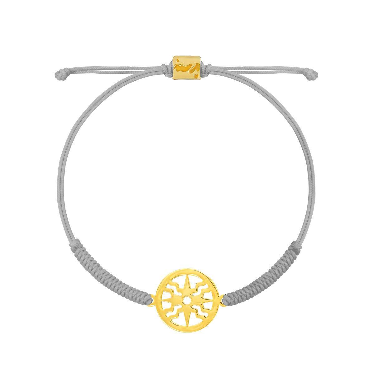 دستبند طلا بافت طوسی خورشید