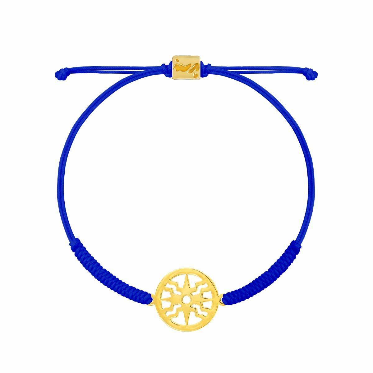 دستبند طلا بافت آبی خورشید