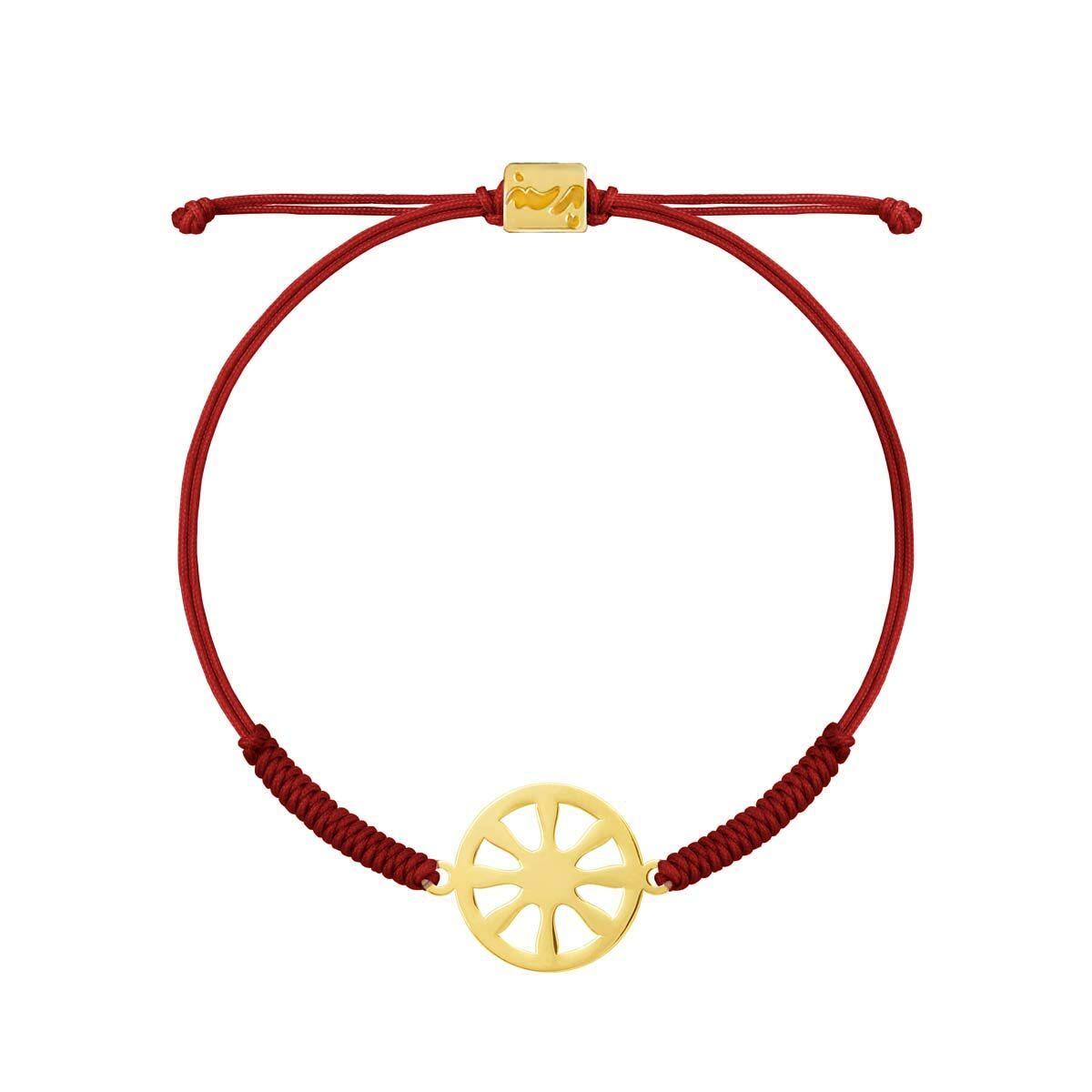 دستبند طلا بافت زرشکی شمس
