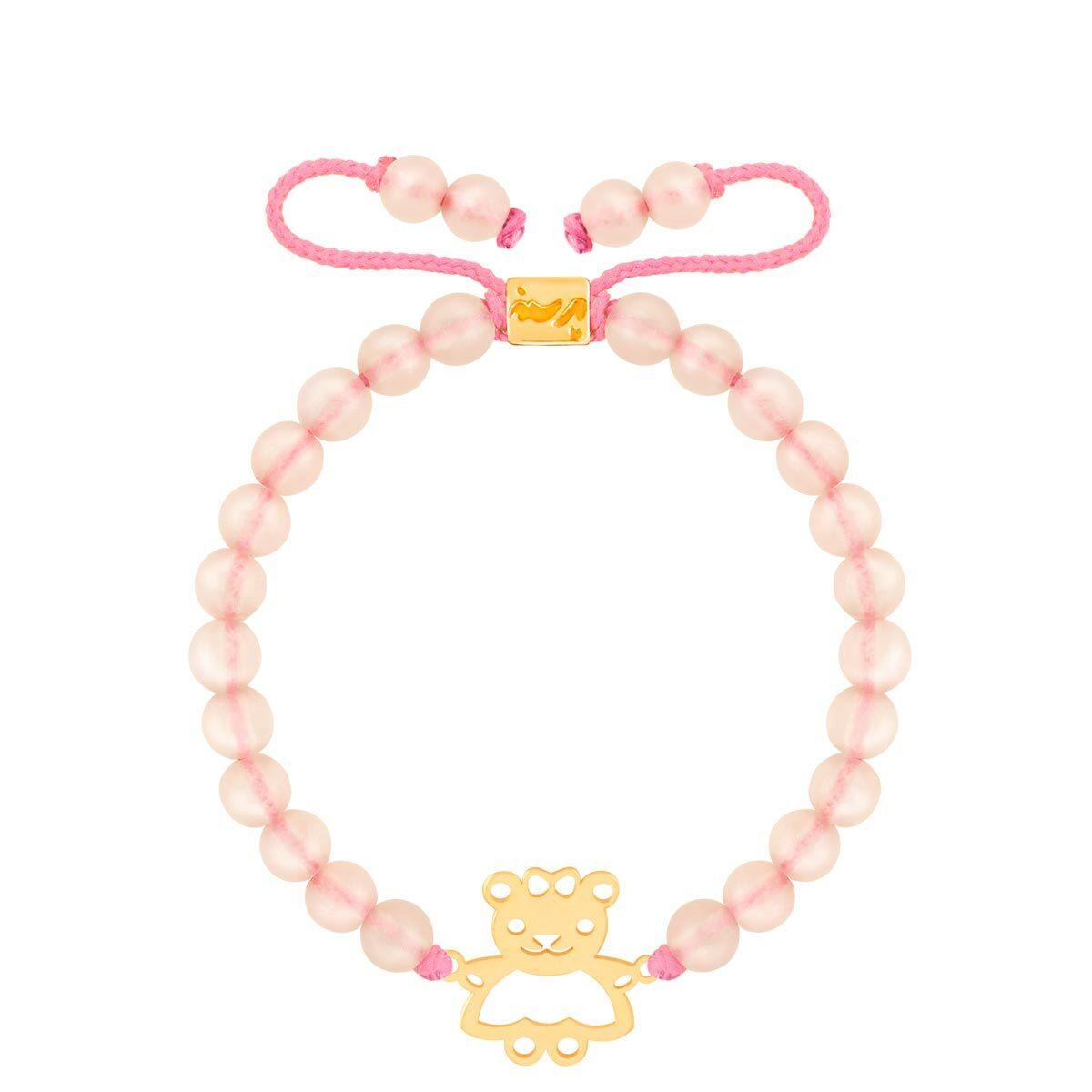 دستبند طلا بچه گانه سنگی خرس