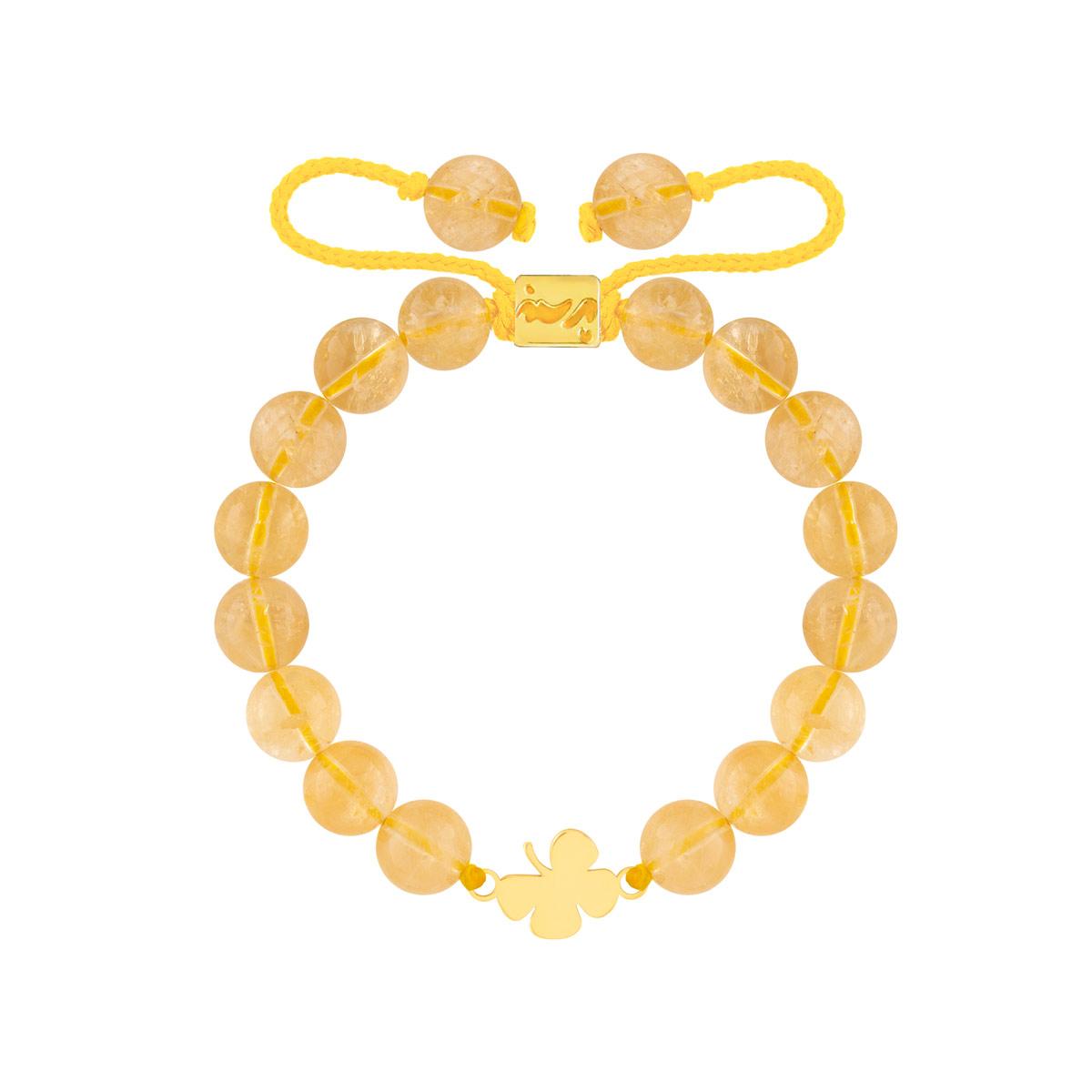 دستبند طلا سنگی برگ