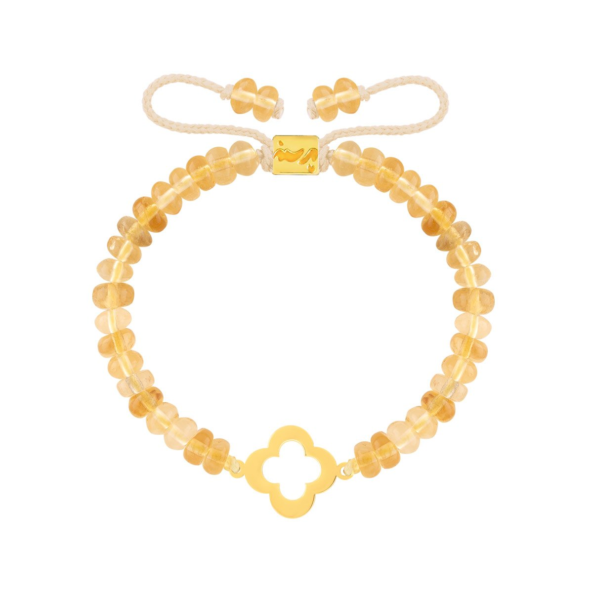 دستبند طلا سنگی گل