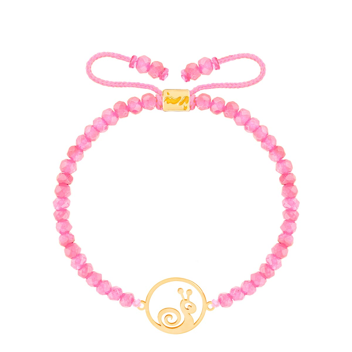 دستبند طلا بچه گانه سنگی حلزون و دایره