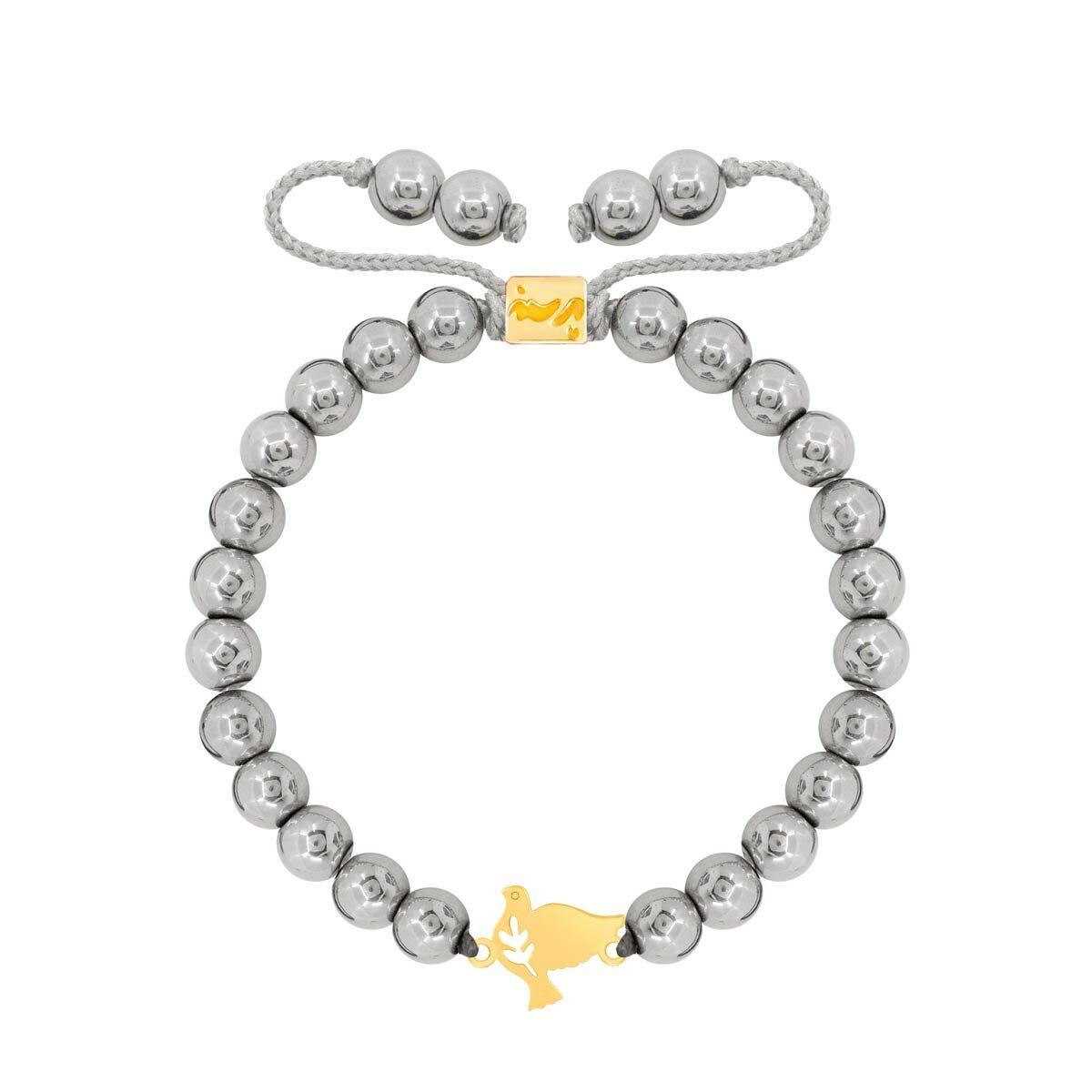 دستبند طلا سنگی پرنده