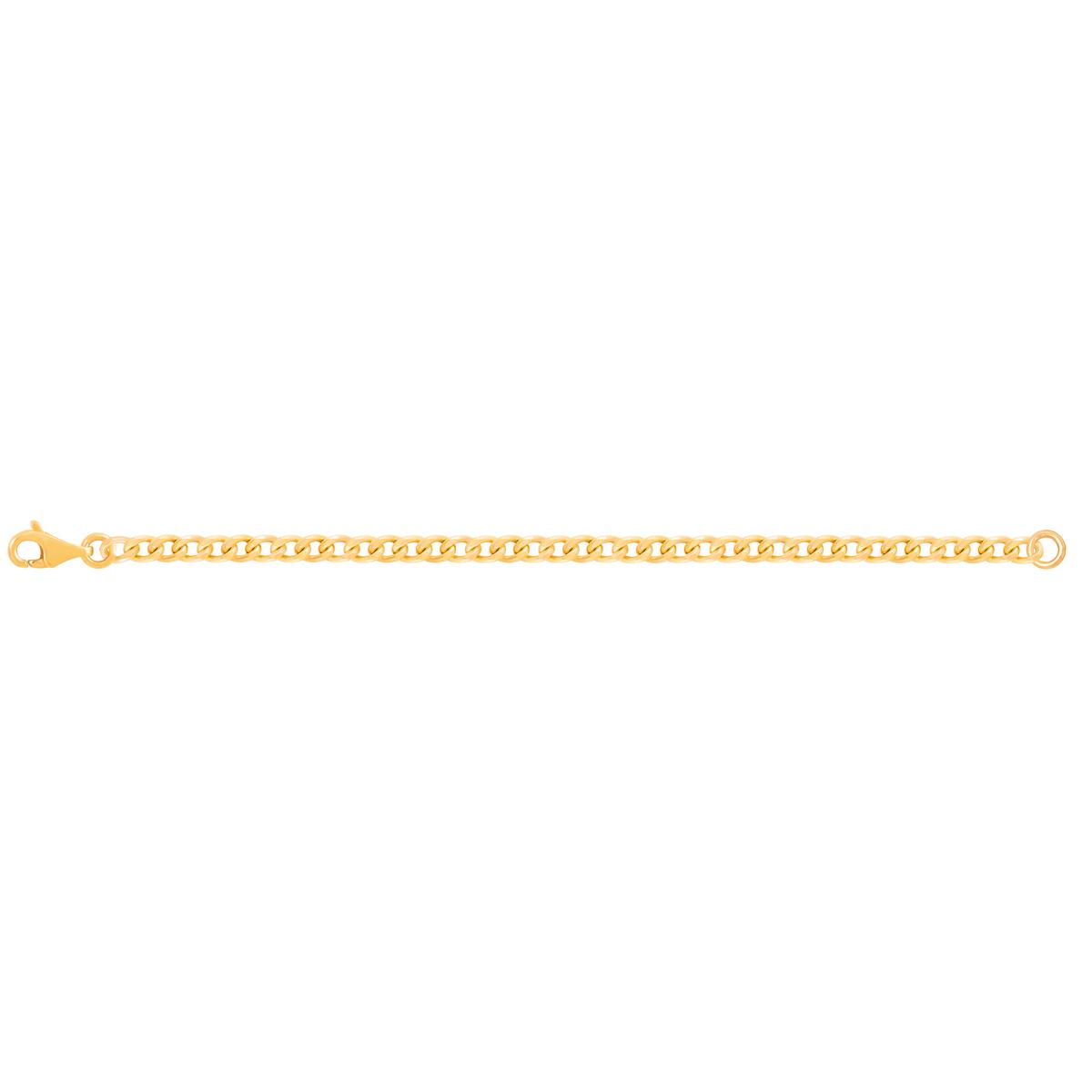 دستبند زنجیری طلا کارتیه 4 میلی متری