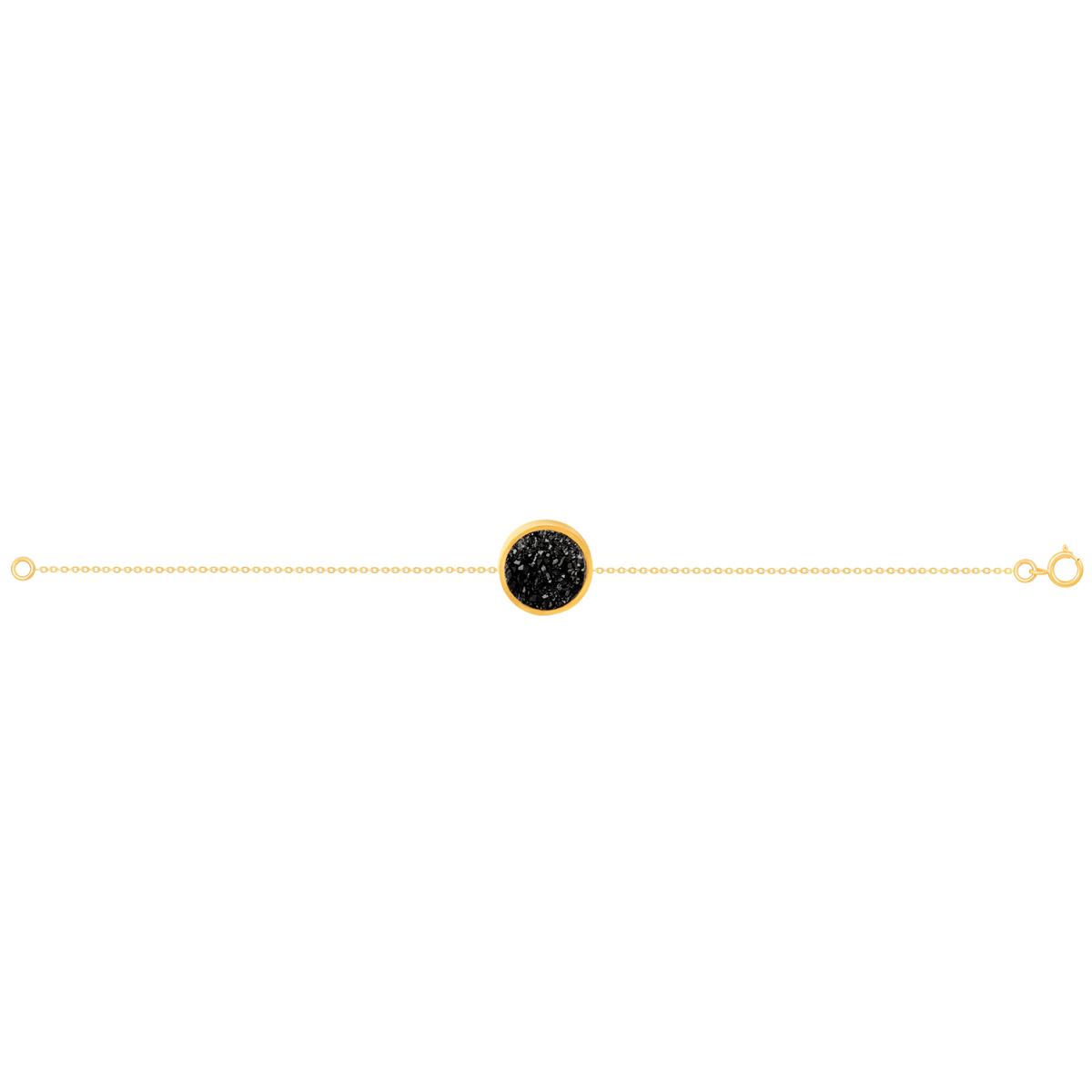 دستبند طلا کوارتز مشکی متوسط