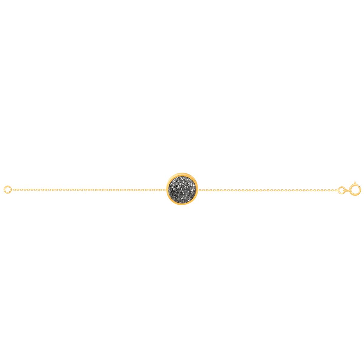 دستبند طلا کوارتز نقره ای متوسط