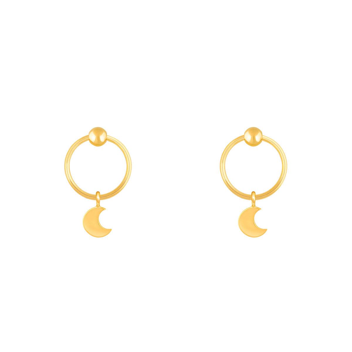 گوشواره طلا ماه و گوی