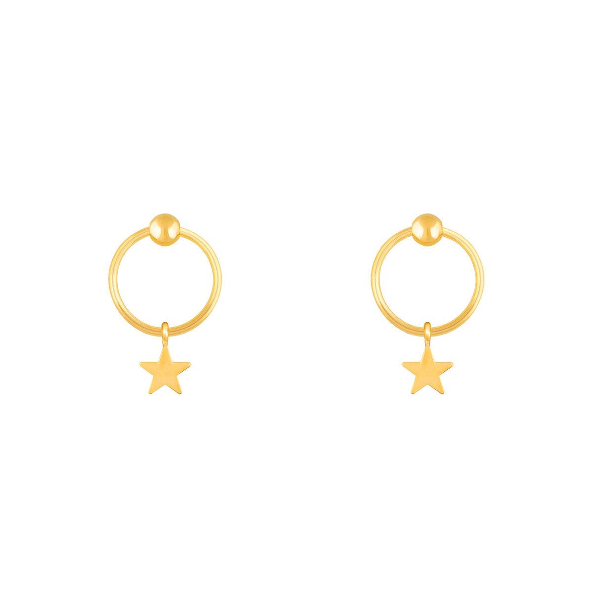 گوشواره طلا ستاره و گوی
