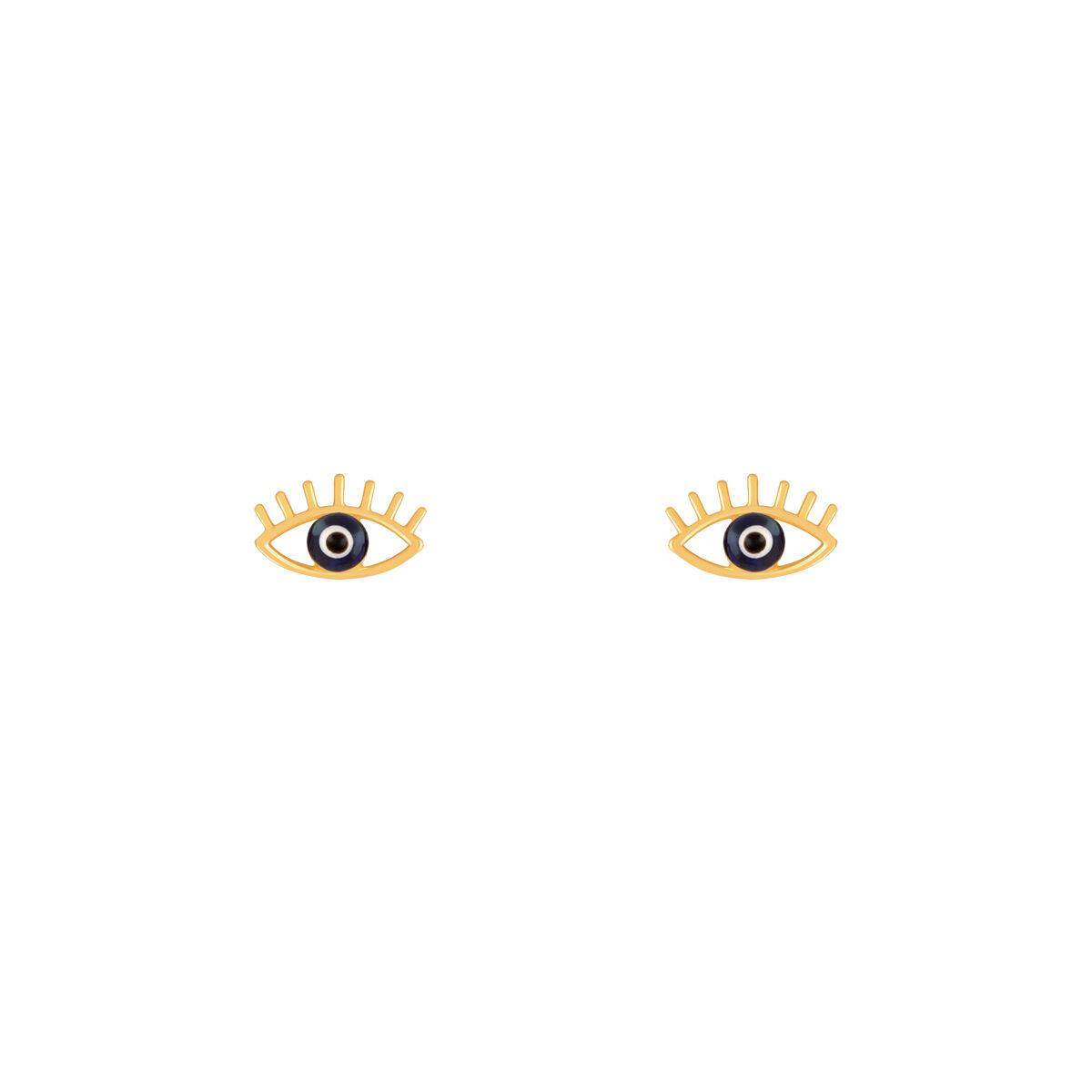 گوشواره طلا چشم مژه دار
