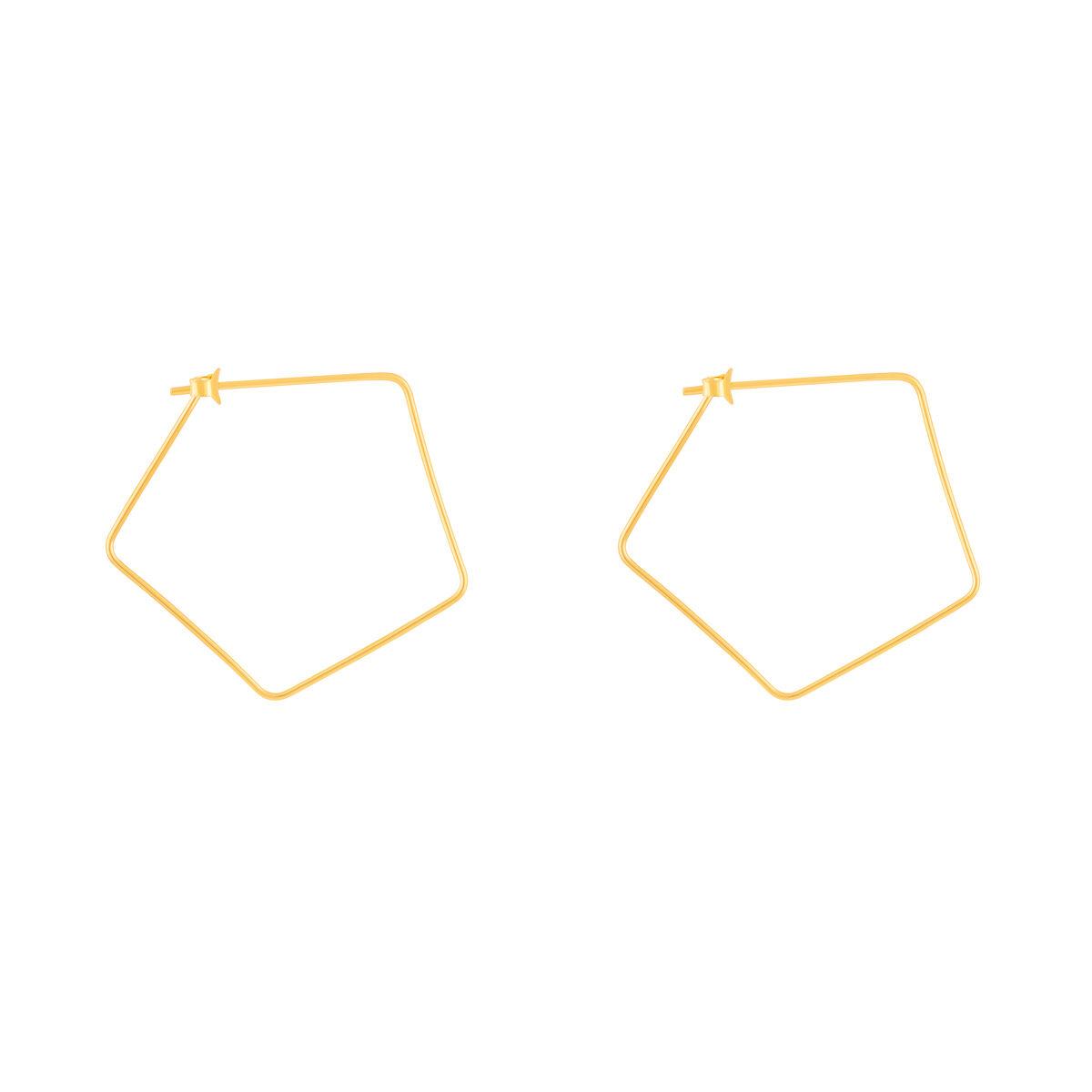 گوشواره طلا پنج ضلعی
