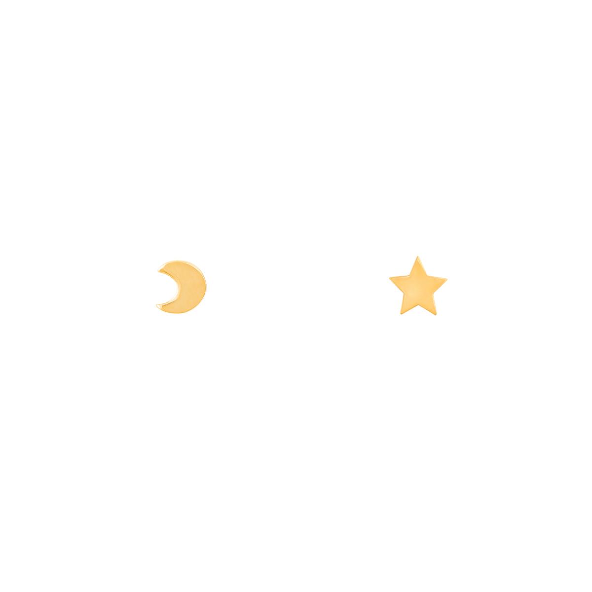 گوشواره طلا ماه و ستاره