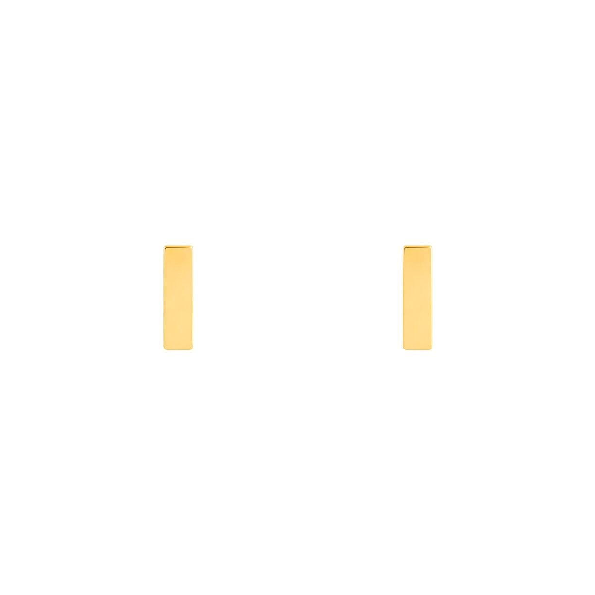 گوشواره طلا مستطیل
