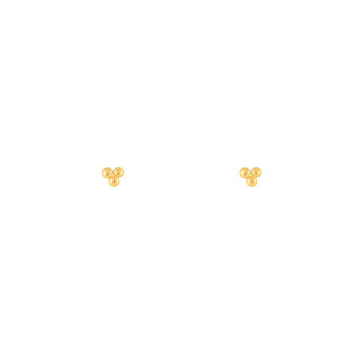 گوشواره طلا مثلث توپی