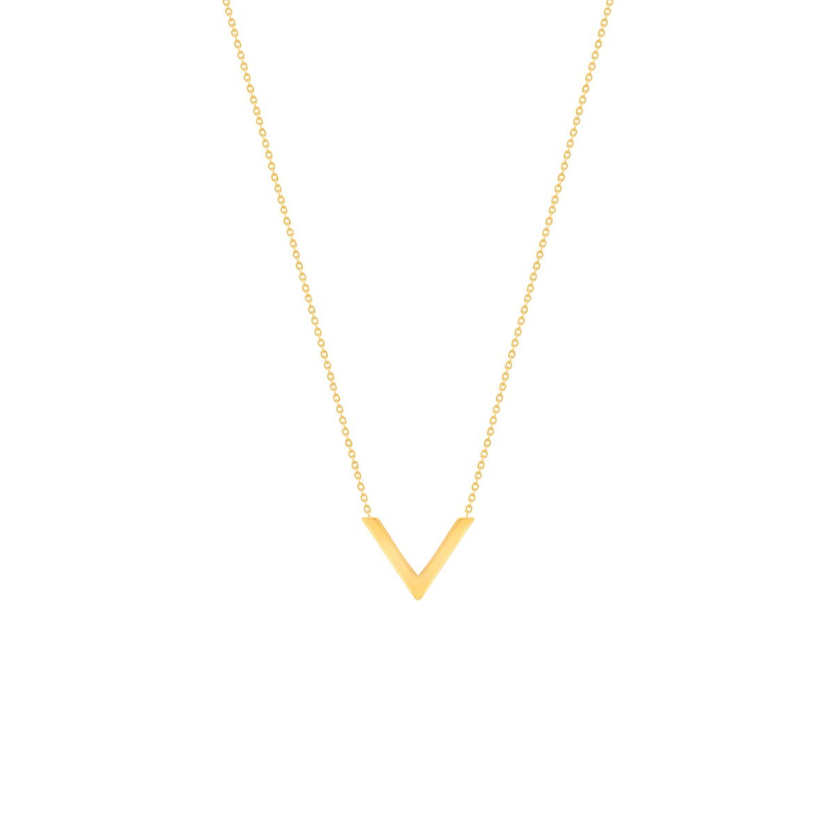 گردنبند طلا V ( وی )