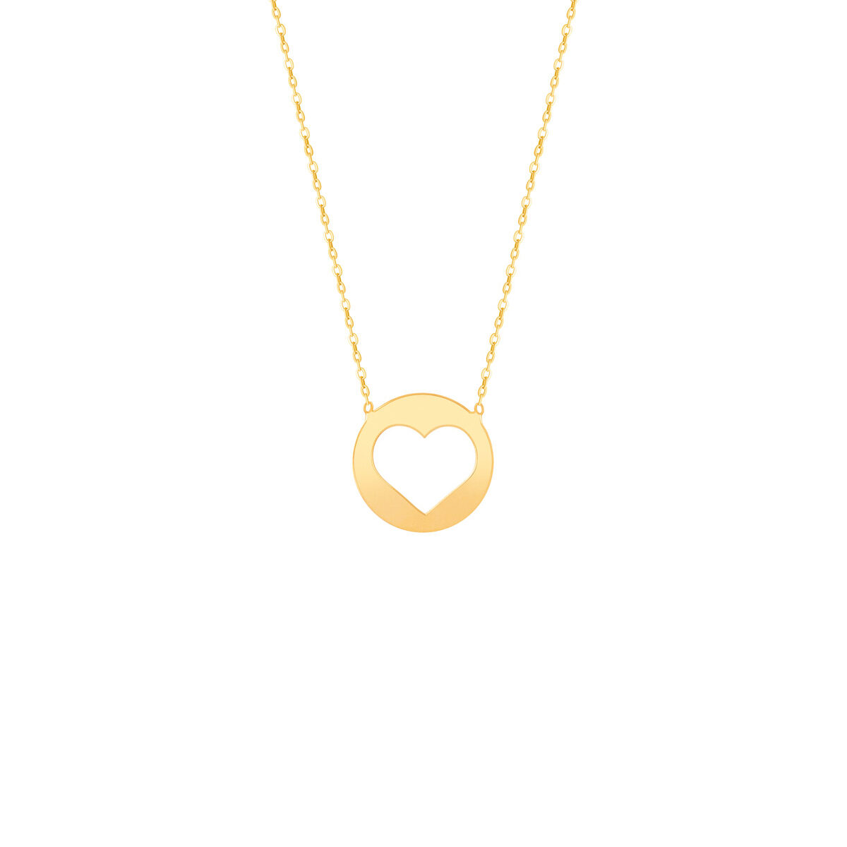 گردنبند طلا پلاک قلب