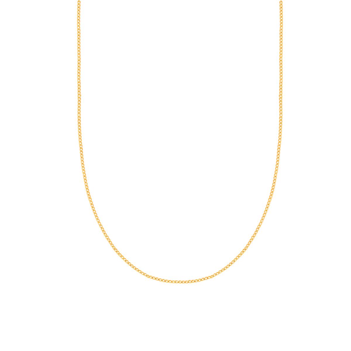 گردنبند زنجیری طلا کارتیه 1 میلی متری