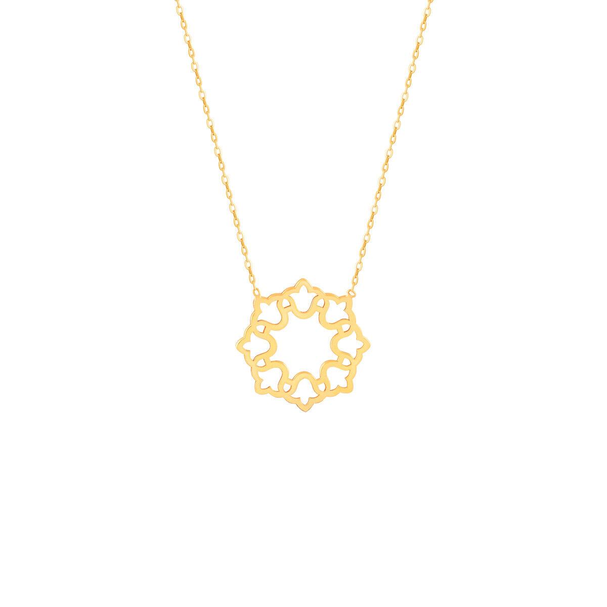 گردنبند طلا اسلیمی گل