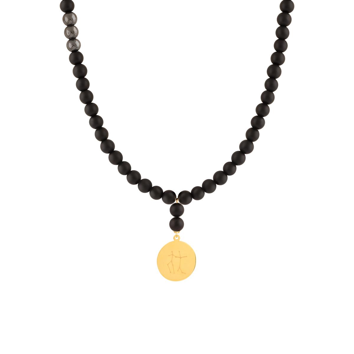 گردنبند طلا سنگی نماد ماه خرداد