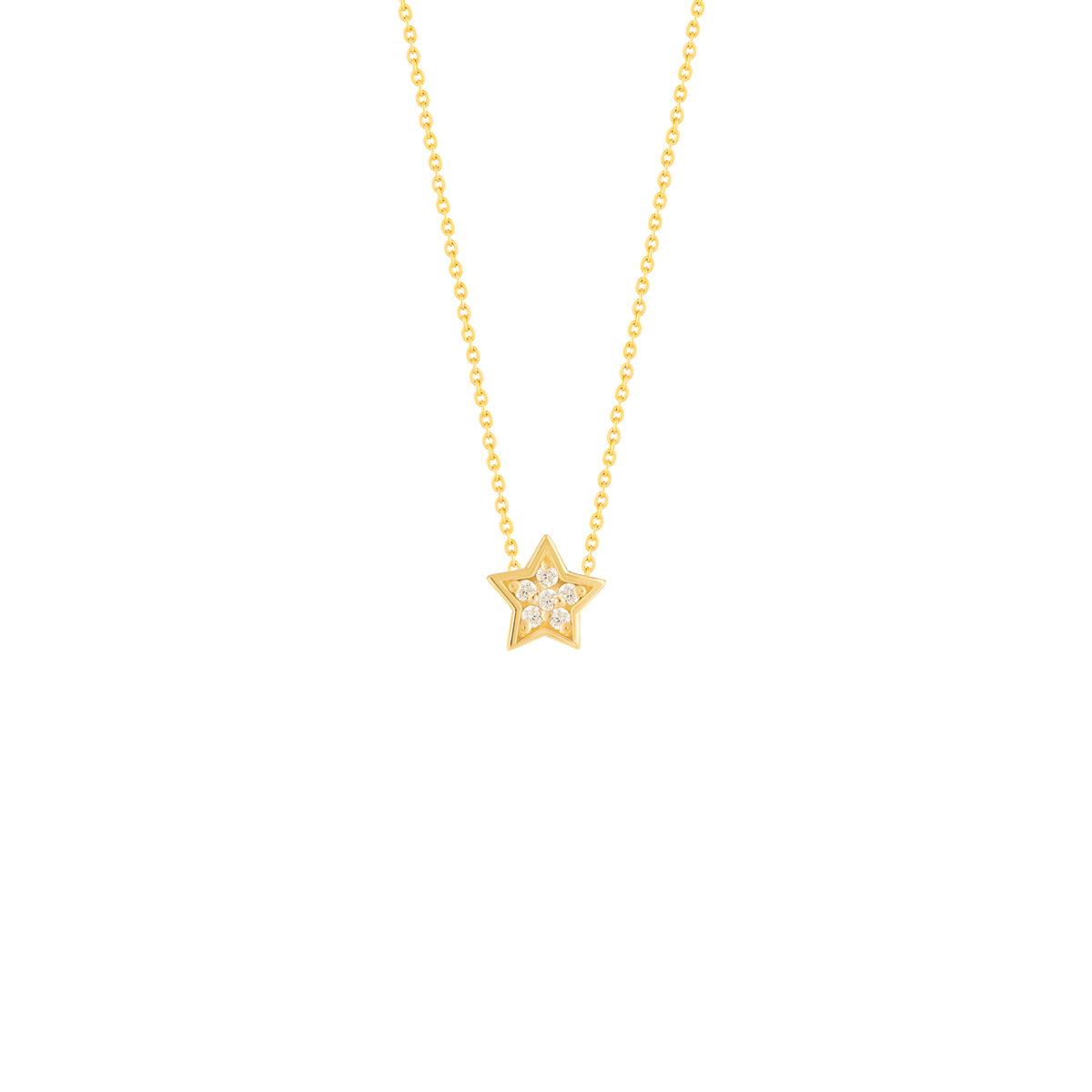 گردنبند طلا ستاره نگین دار