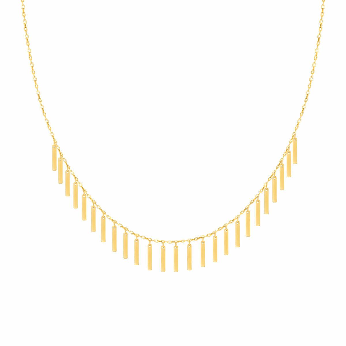 گردنبند طلا Mermaid (پری دریایی) مستطیل