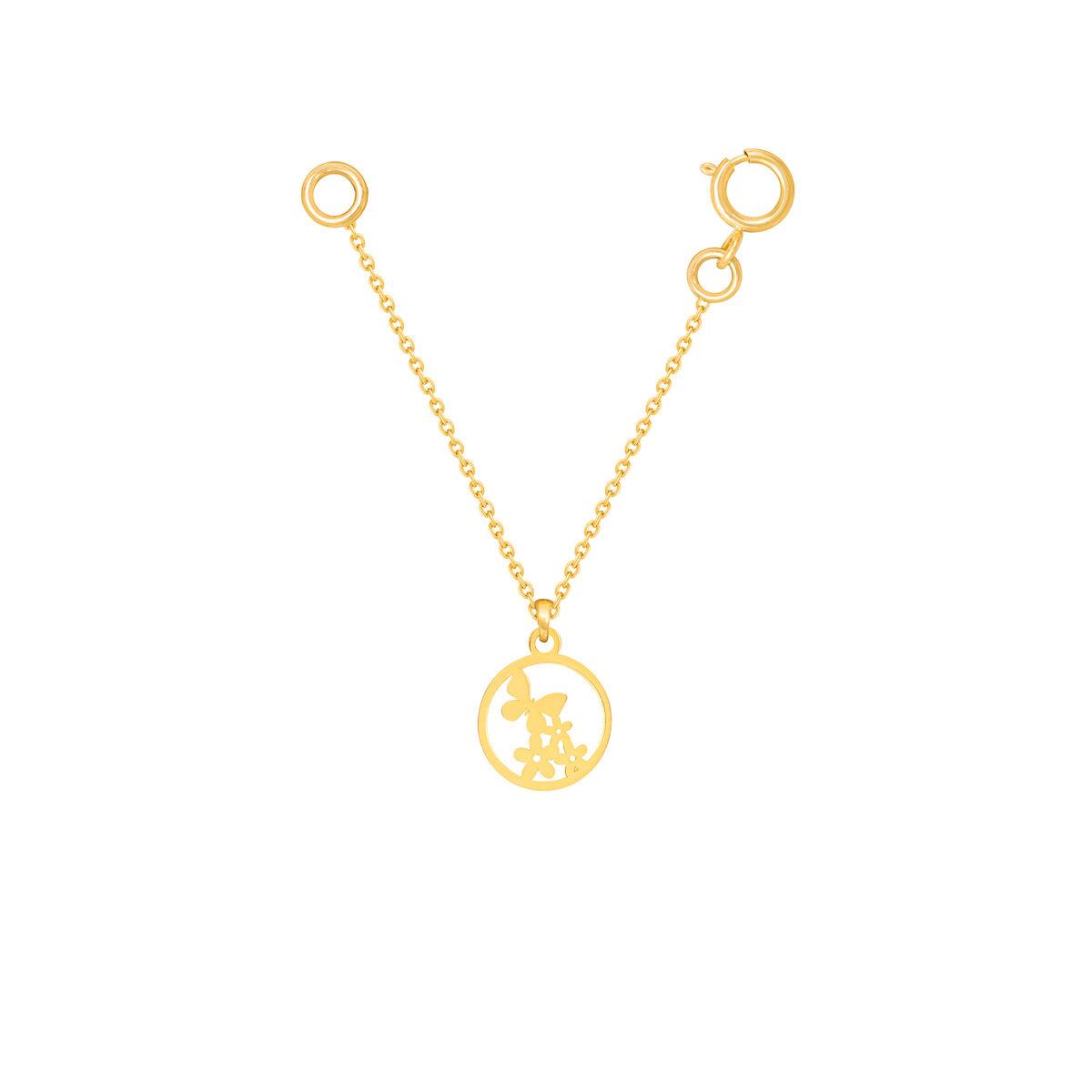 آویز ساعت طلا پروانه و گل