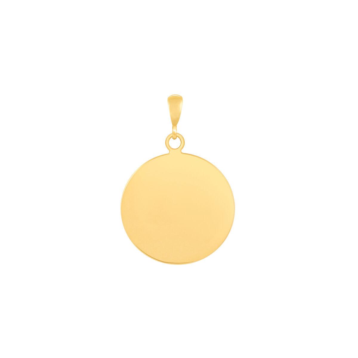 آویز طلا دایره حکاکی بزرگ