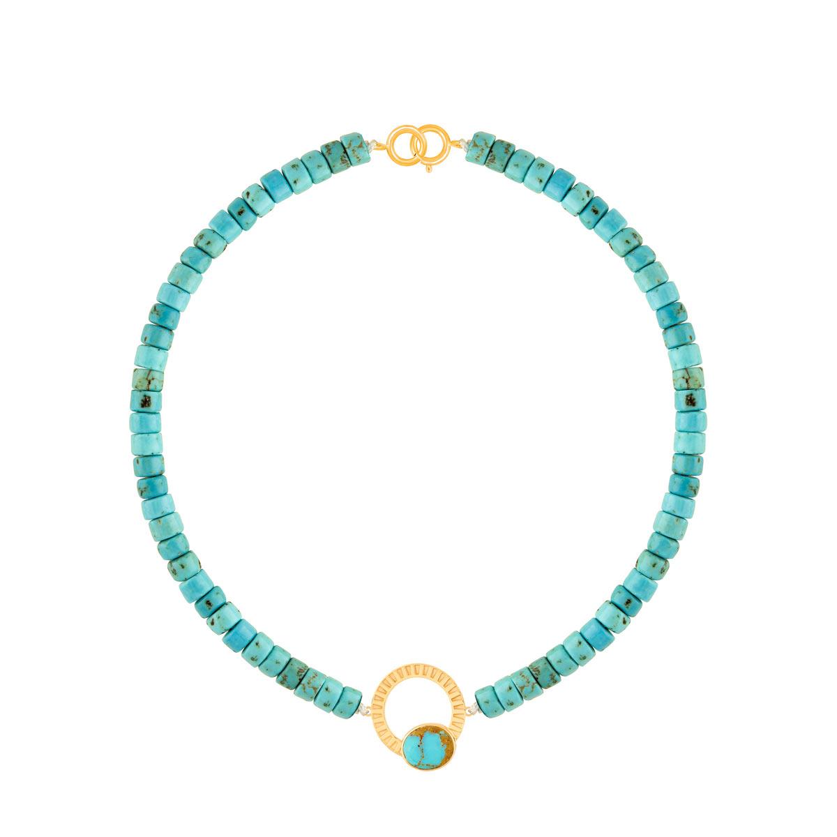 دستبند طلا سنگی مارِلا