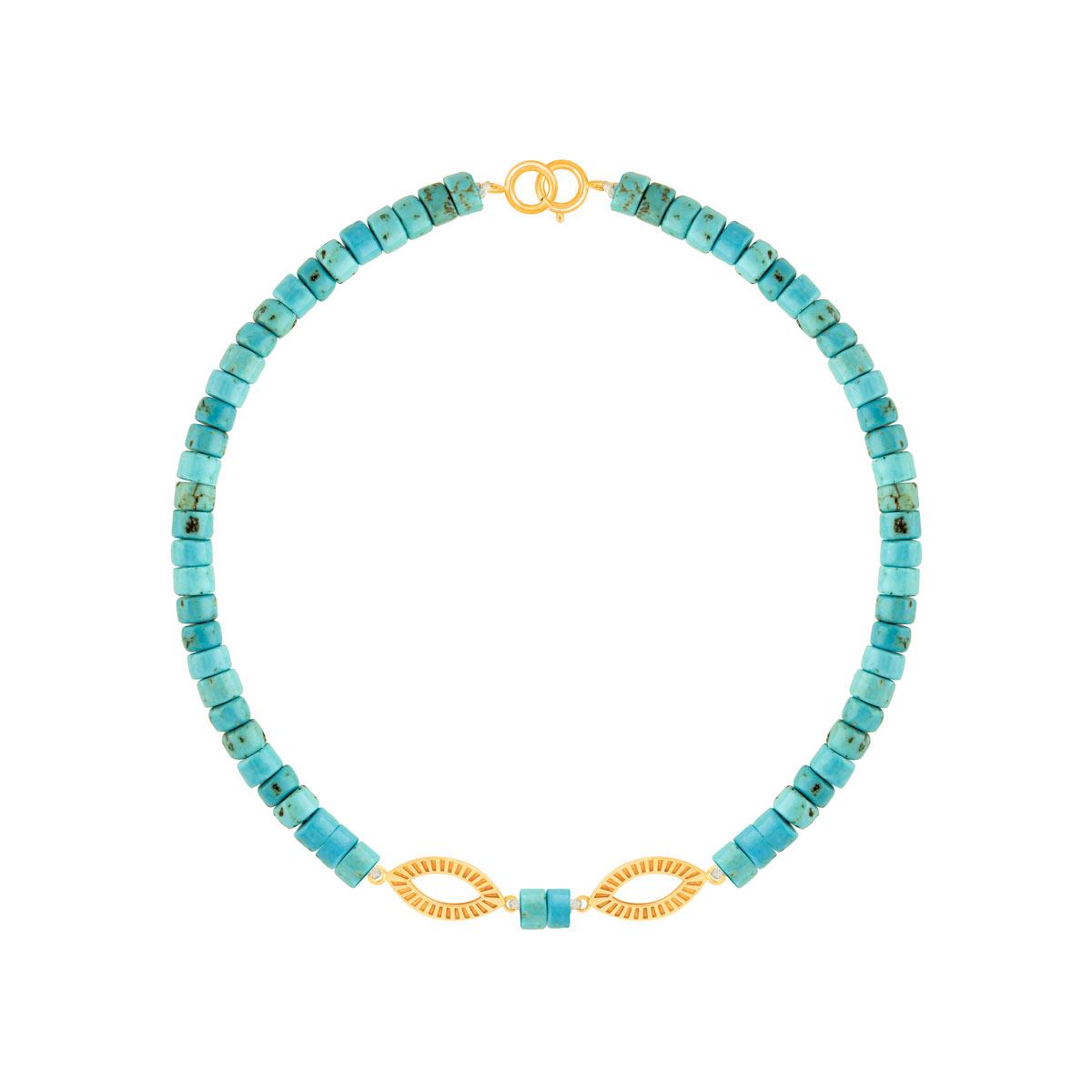 دستبند طلا سنگی مانا