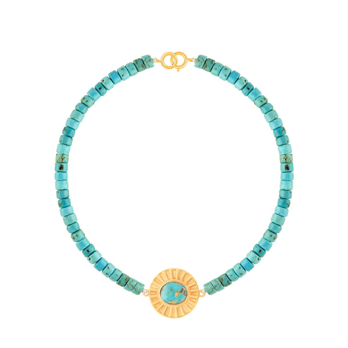 دستبند طلا سنگی مایا