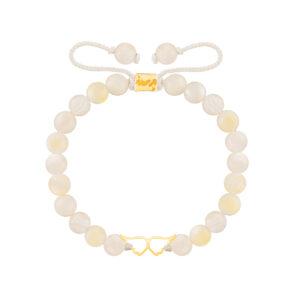 دستبند طلا بال فرشته توخالی کوچک
