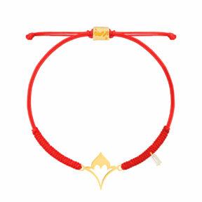 دستبند طلا بافت کلاه جواهر نشان