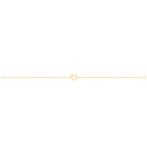 دستبند طلا قلب توخالی کوچک