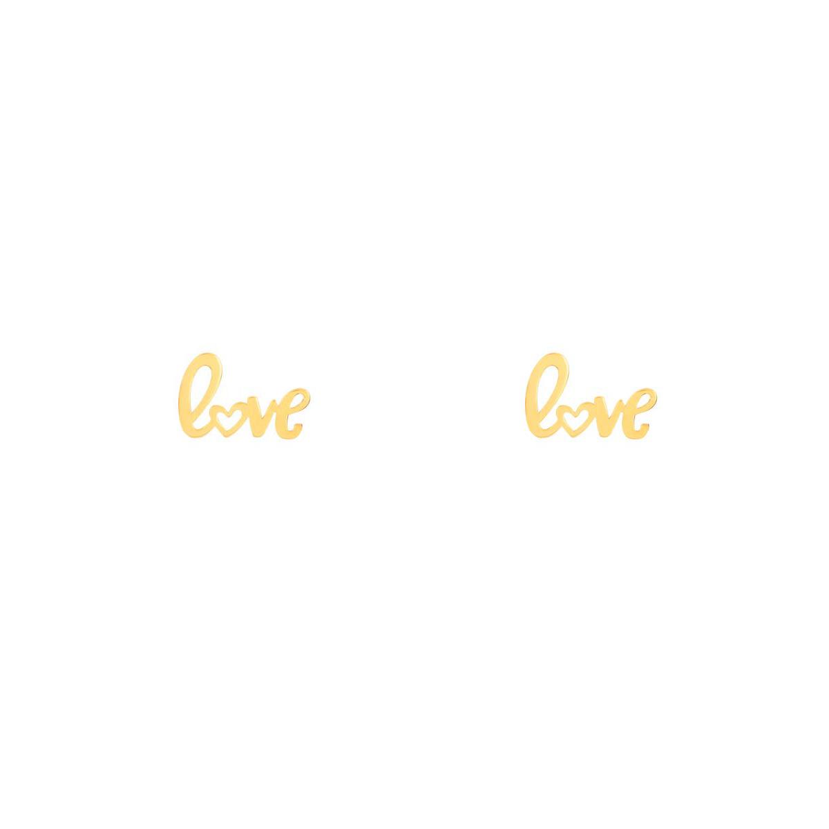 گوشواره طلا Love